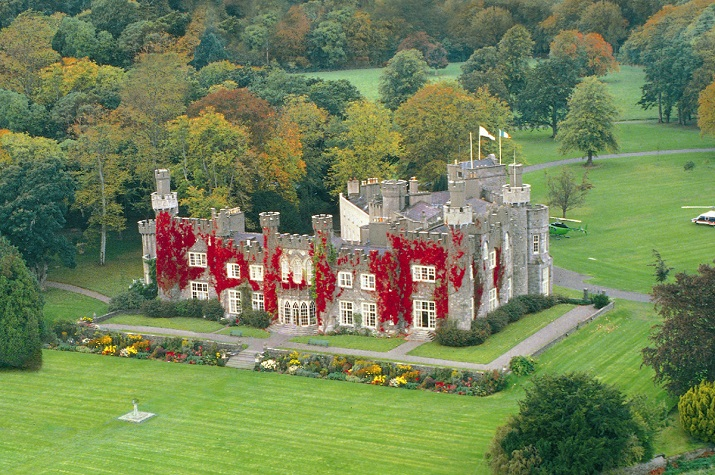 Castleknock private castle aerial view | Elegant Ireland | Luxury holidays Ireland | Elegant Irish Tours